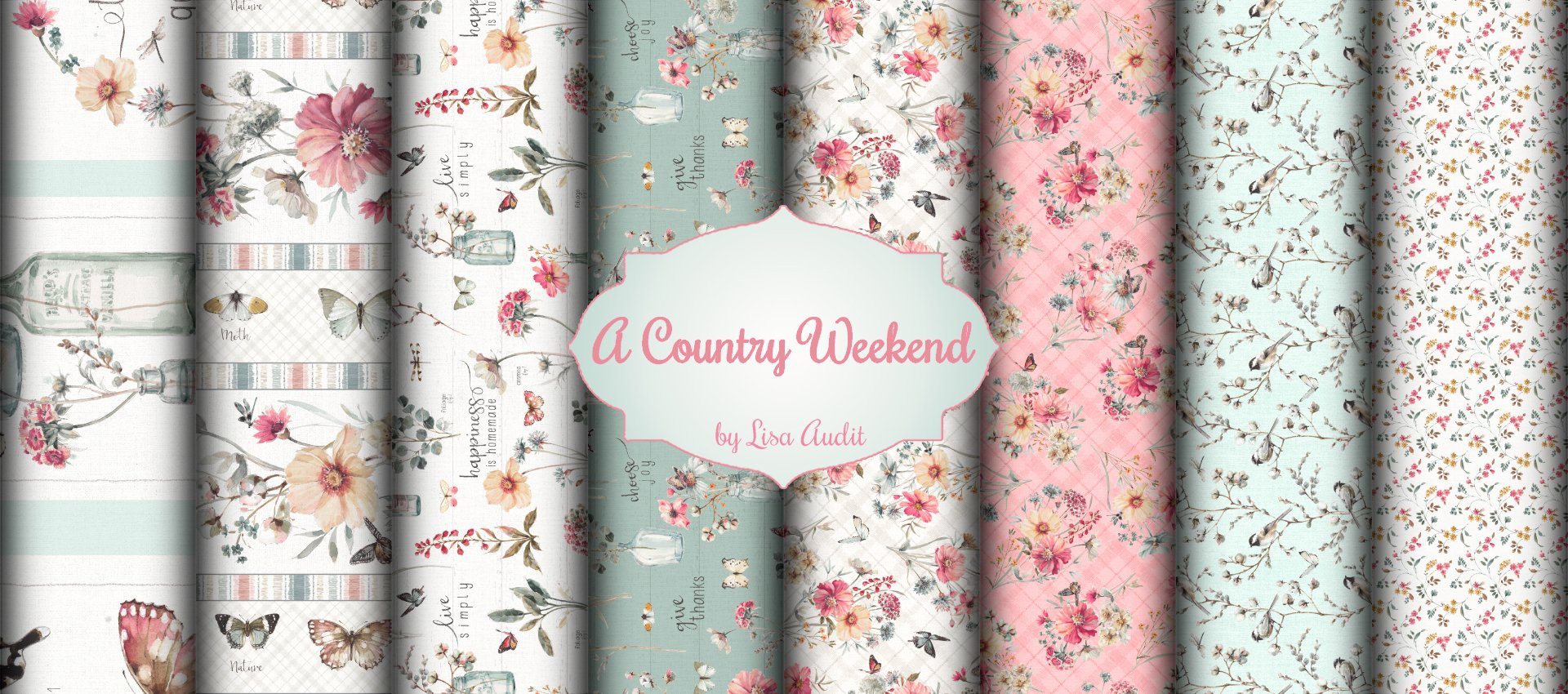 A Country Weekend Quilt Kit featuring A Country Weekend by Lisa Audit