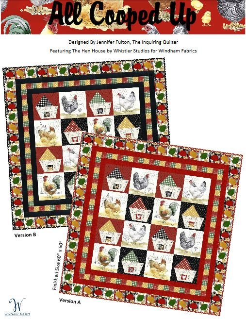 All Cooped Up Quilt Kit- Black Border