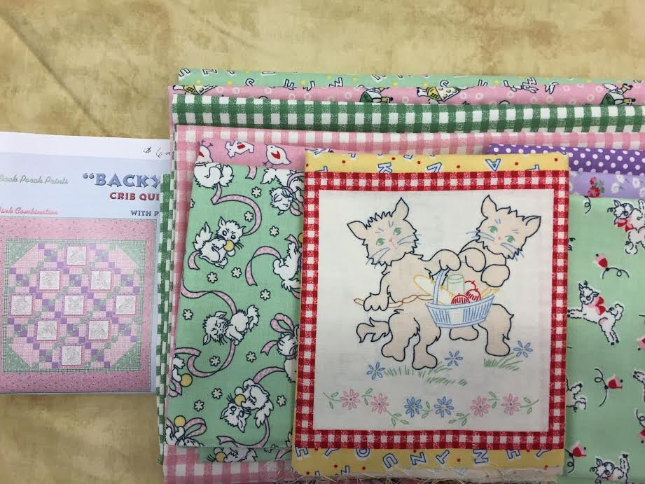 Backyard Pals Crib Quilt Kit- Pastel