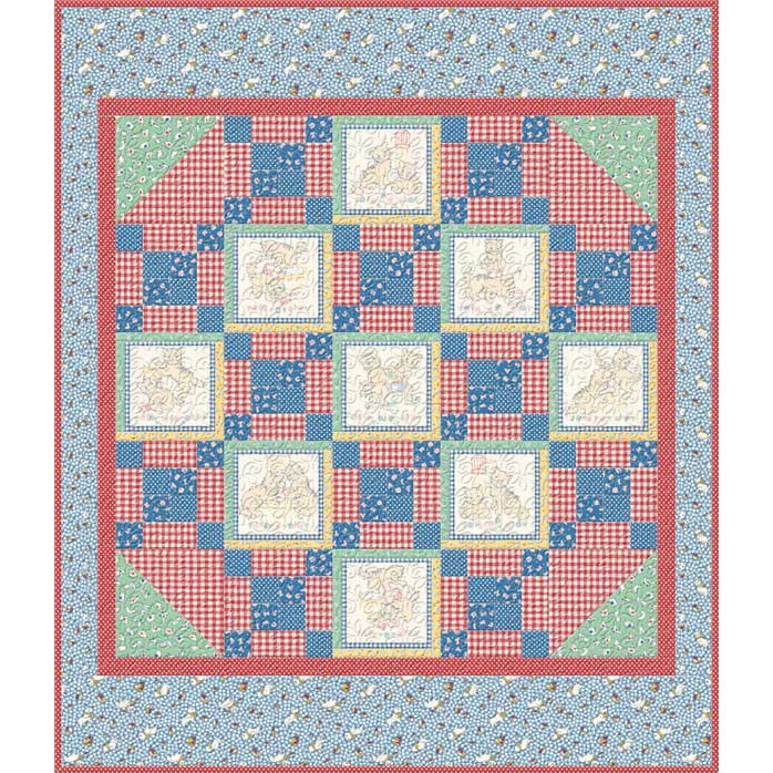 Backyard Pals Crib Quilt Kit- Primary