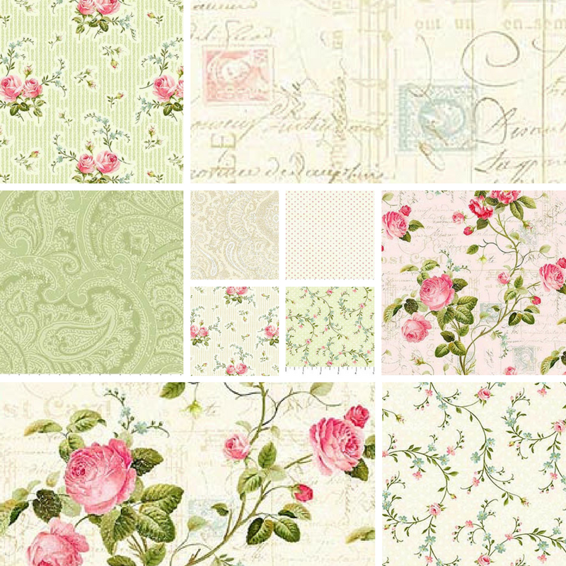 Garden Twist Quilt Kit featuring Hopelessly Romantic (Pink Colorway)