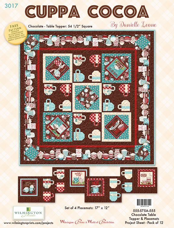Cuppa Cocoa Table Topper/Placemats Kit (Chocolate)