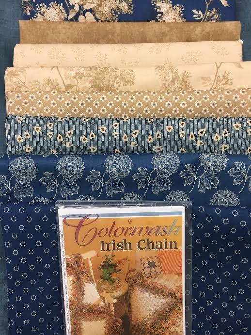 Colorwash Irish Chain Quilt Kit- Blue Sky (Medium)