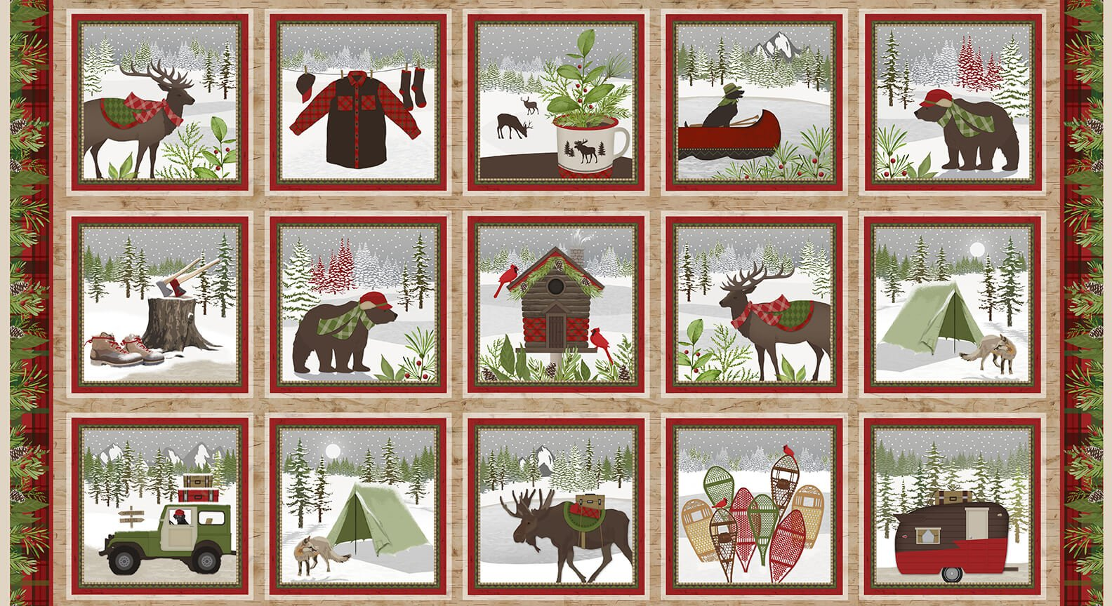 Woodland Haven Flannel  F1732-33