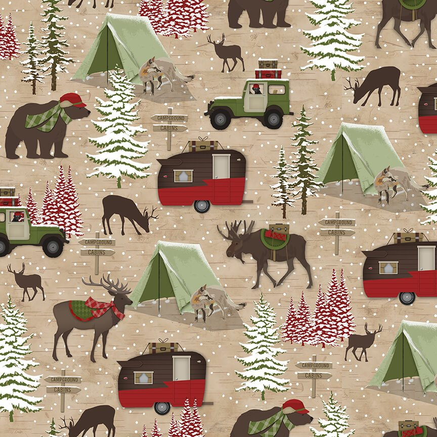 Woodland Haven Flannel  F1736-33