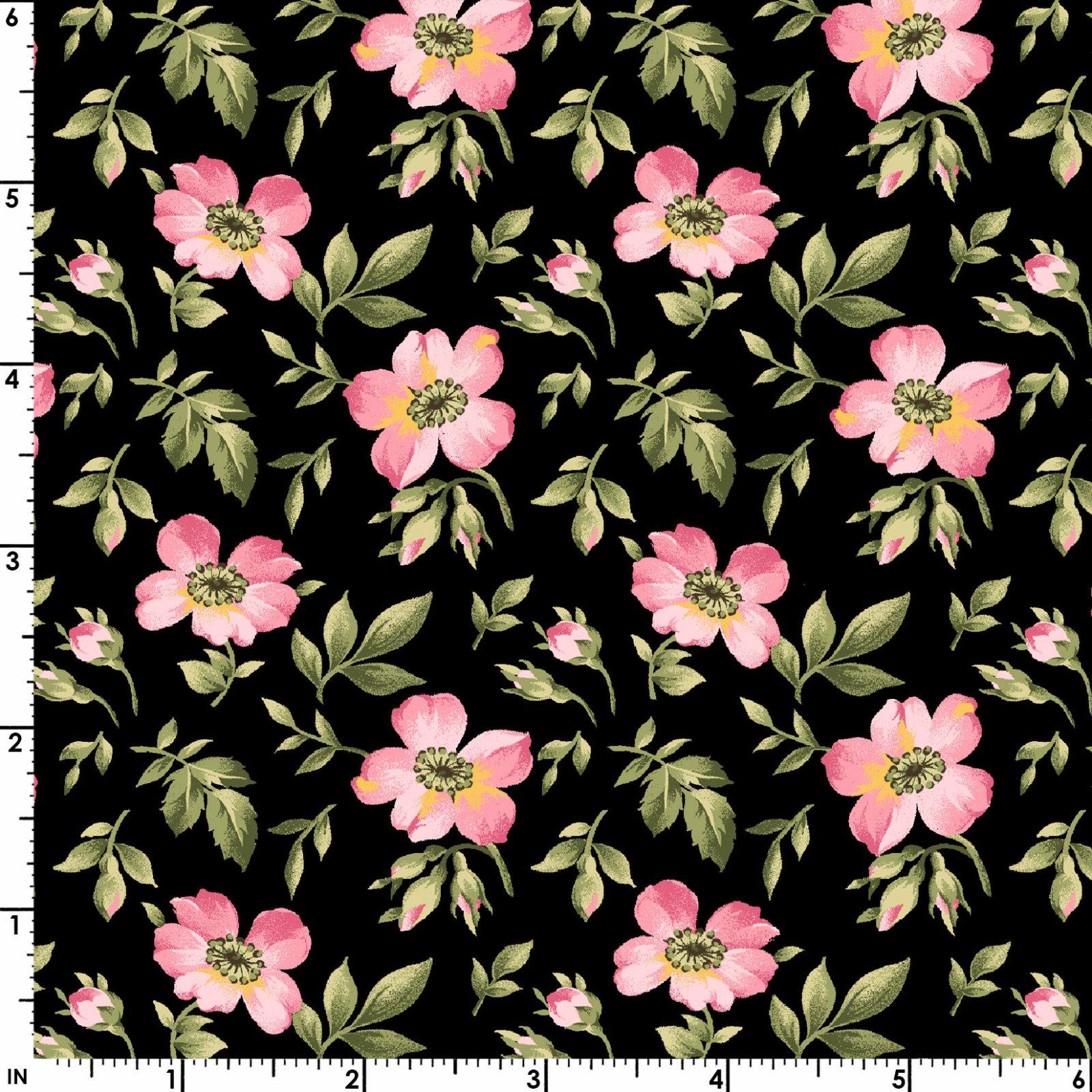 Wild Rose Flannel  F7892-J