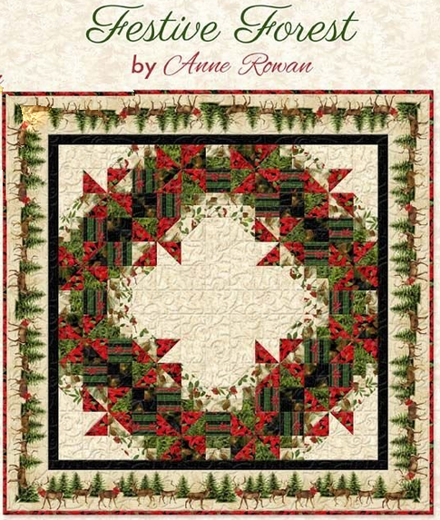 Festive Forest Table Topper/Quilt Kit