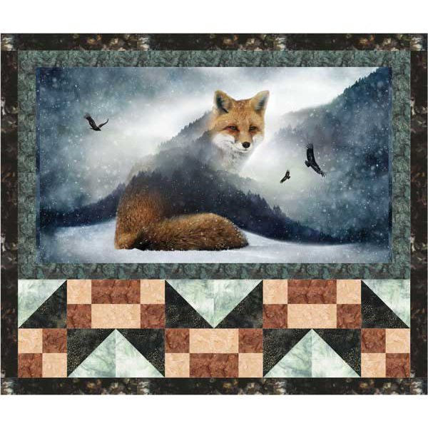 Fox and Tracks Quilt Kit