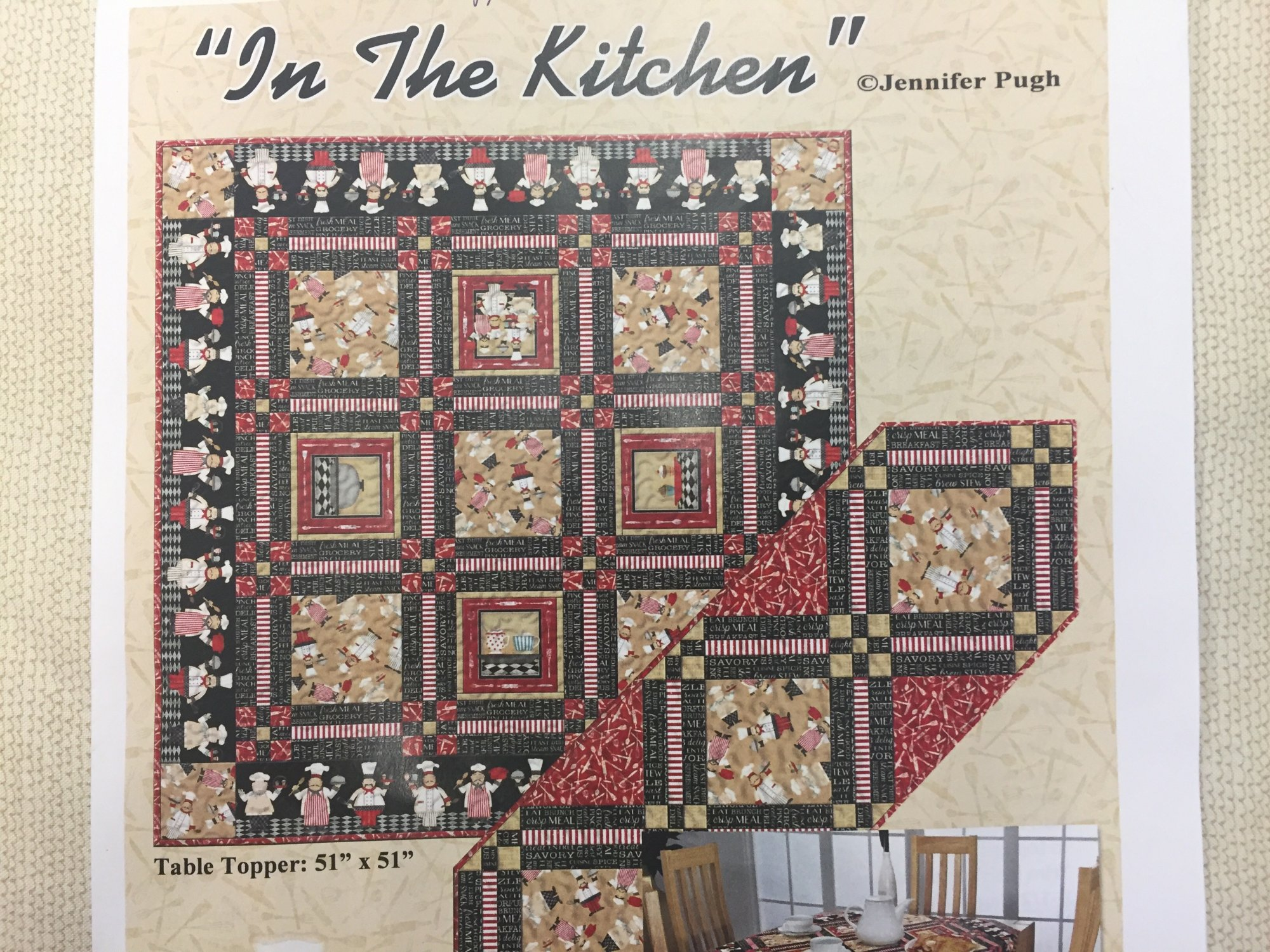In the Kitchen Tabletopper/Wall Hanging Kit