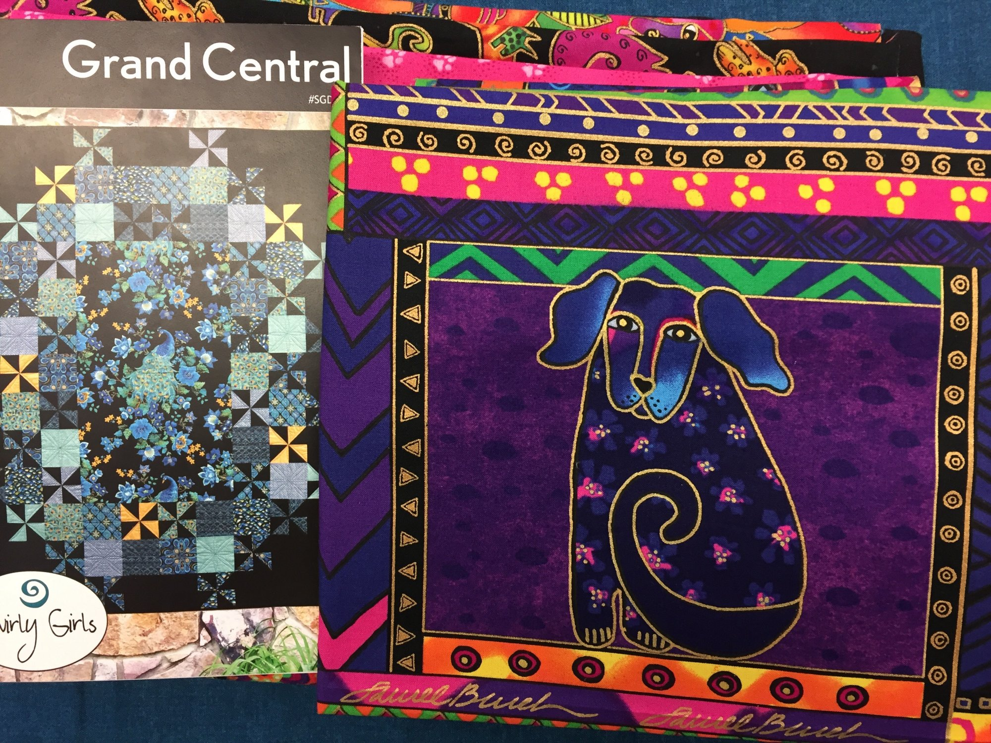 Grand Central Quilt Kit featuring Dogs & Doggies by Laurel Burch