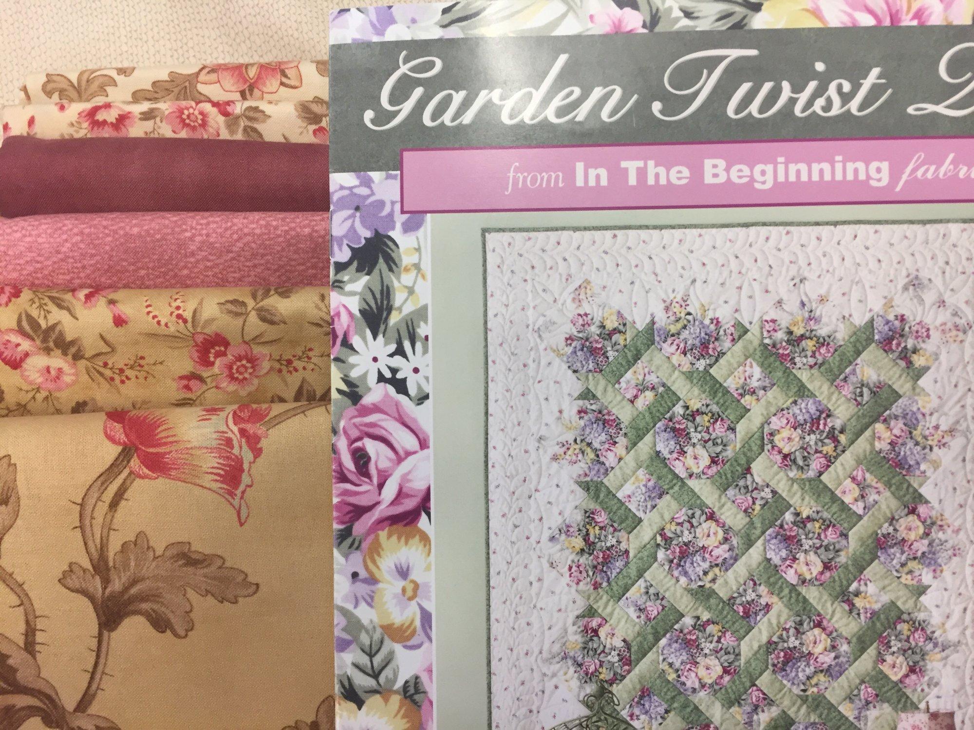 Garden Twist Quilt Kit featuring Astor Manor