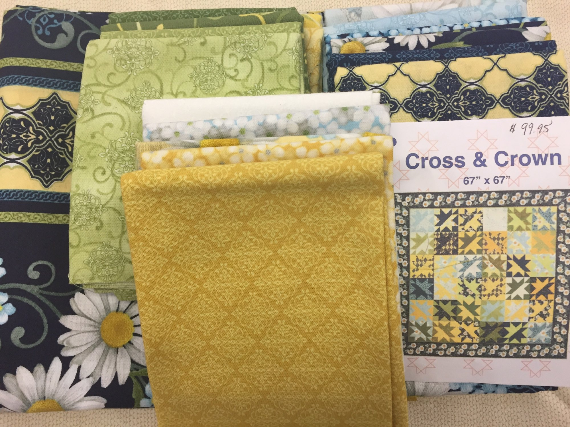 Cross & Crown Quilt Kit featuring He Still Loves Me...