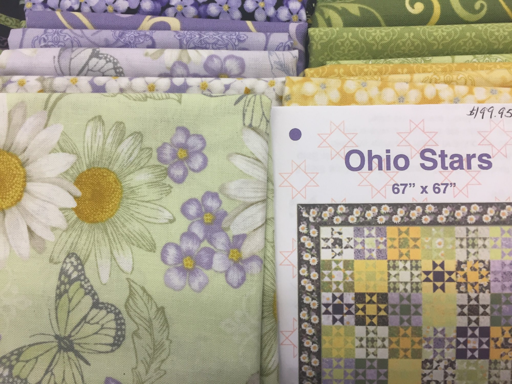 Ohio Stars Quilt Kit featuring He Still Loves Me...
