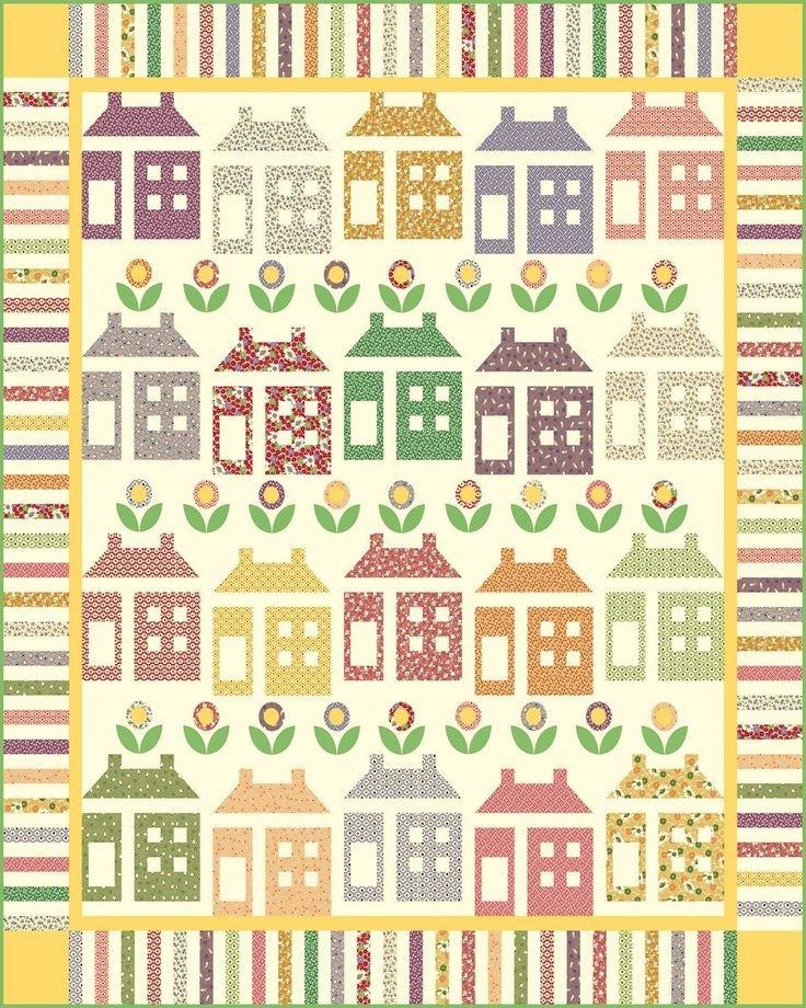 House & Garden Quilt Kit
