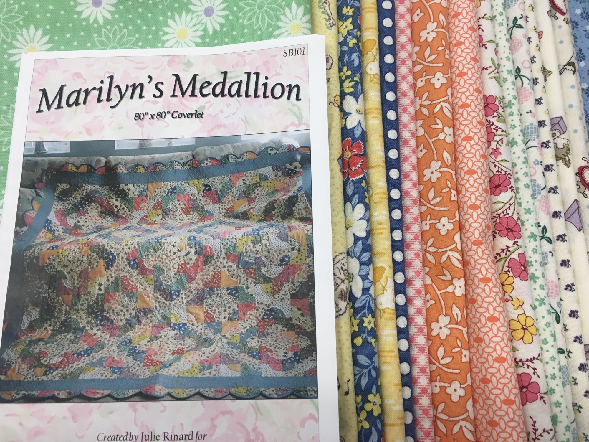 Marilyn's Medallion Quilt Kit featuring 30's Reproduction Prints