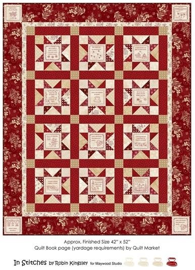 In Stitches and Stars Quilt Kit