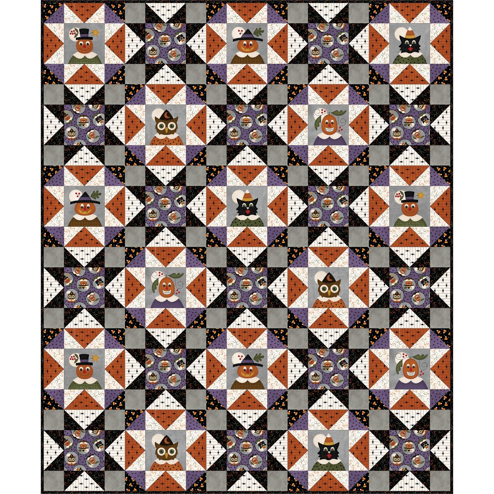 Happy Jacks and Friends Flannel Quilt Kit