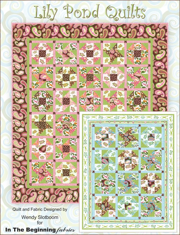 Lily Pond Crib Quilt Kit - Pink