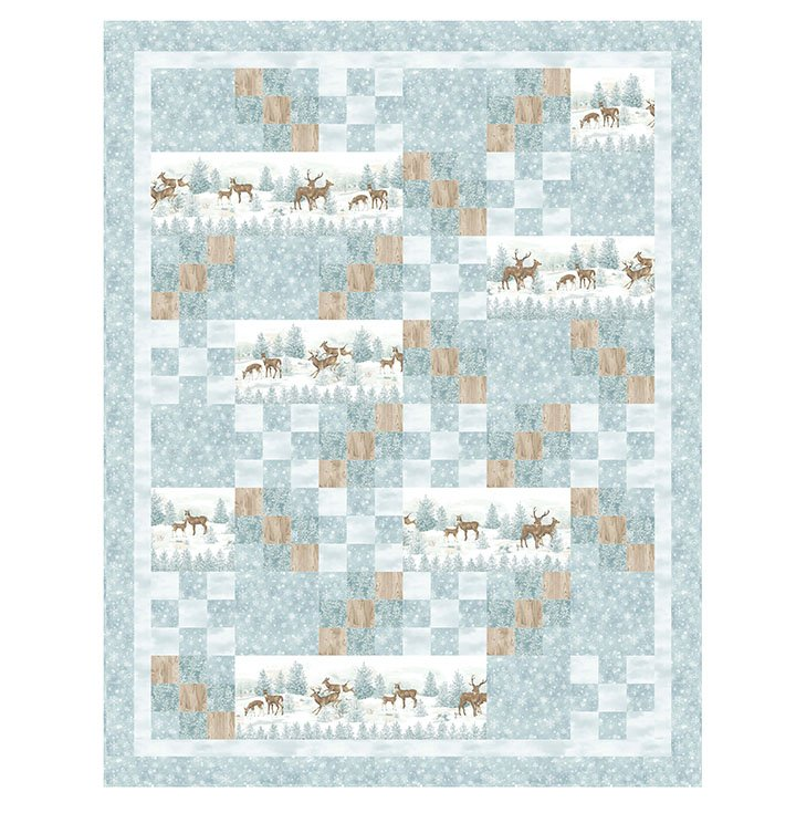 Winterscape Quilt featuring Frosted Woodland Flannel