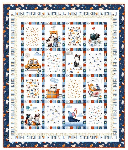 Meow About Town featuring Feline Friends from Michael Miller Fabrics
