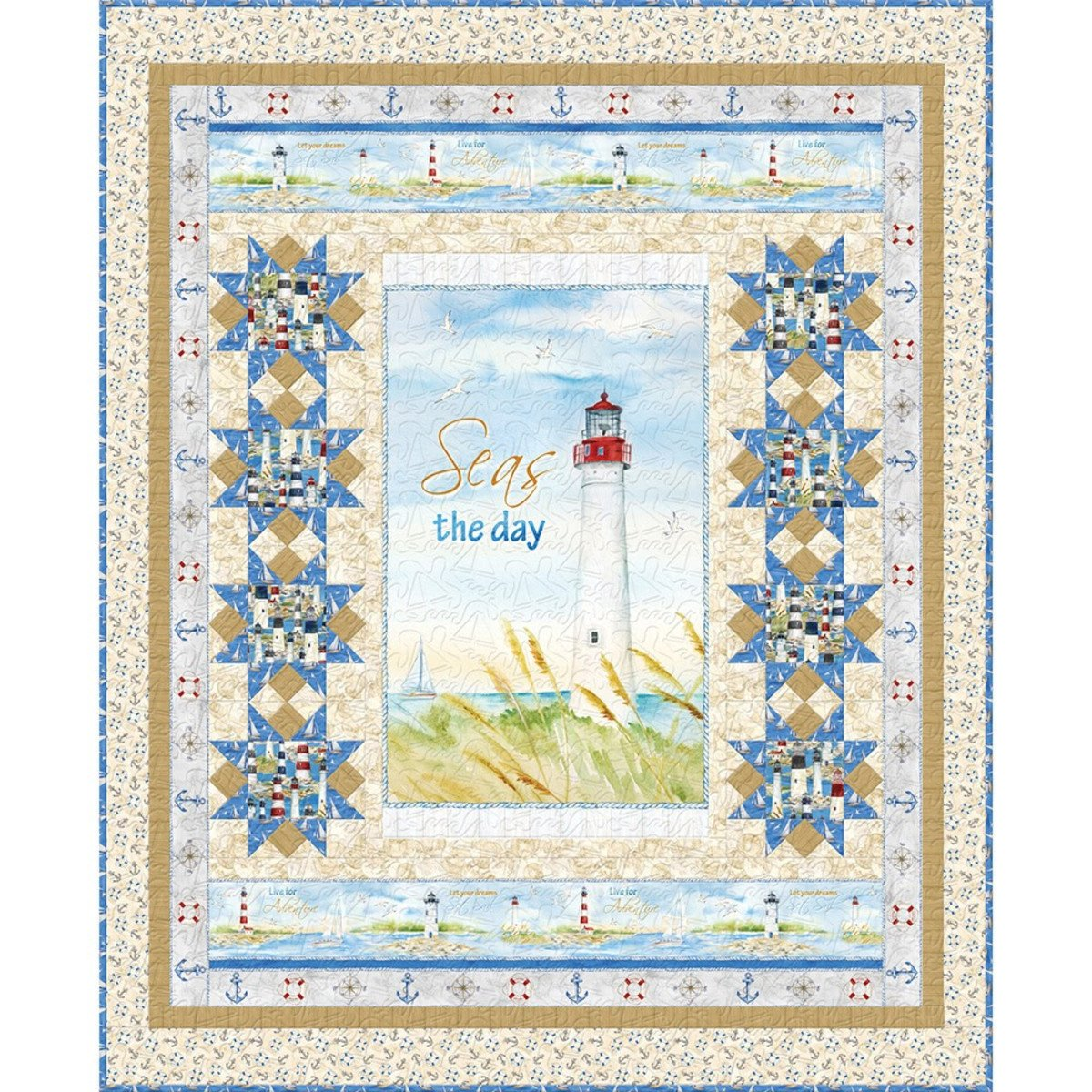 Harbor Lights Quilt Kit (Sand Colorway)