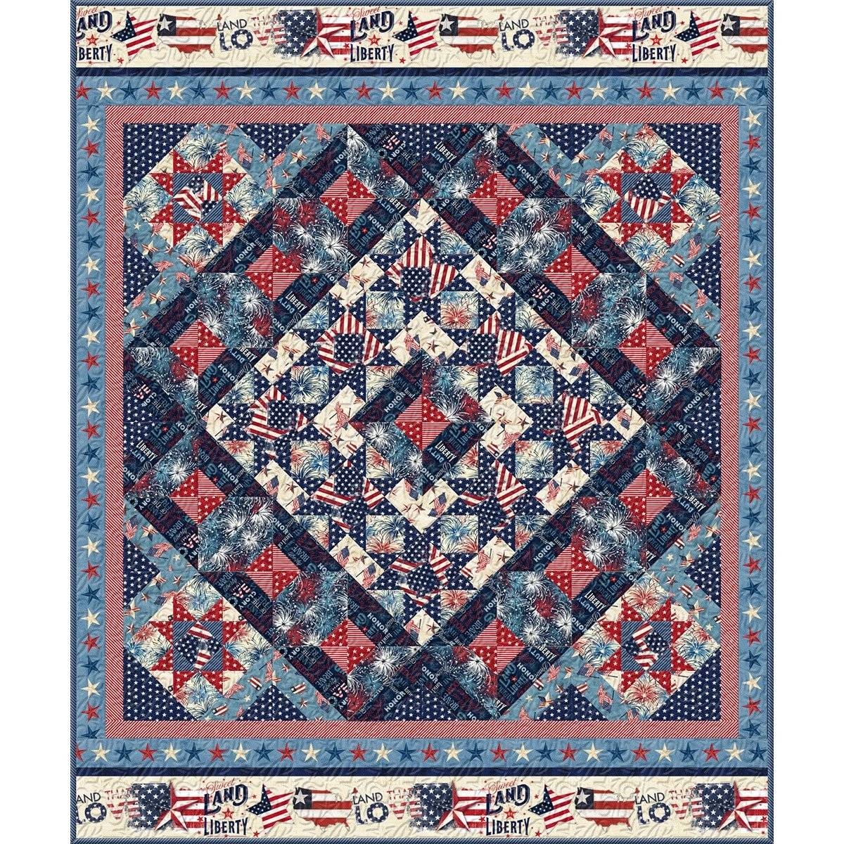 American Valor Quilt/Throw Kit