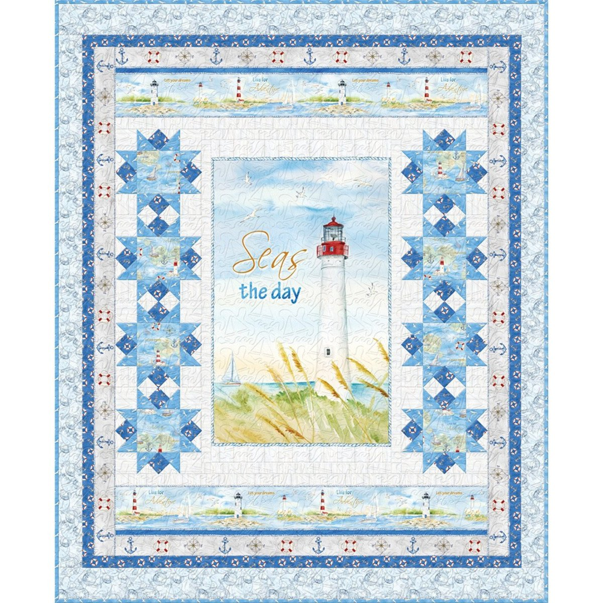 Harbor Lights Quilt Kit (Ocean Colorway)