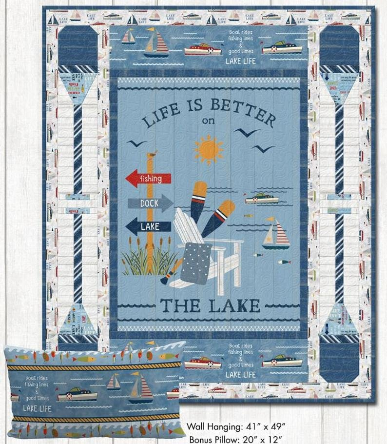 Lake Life Quilt Kit PLUS Bonus Pillow