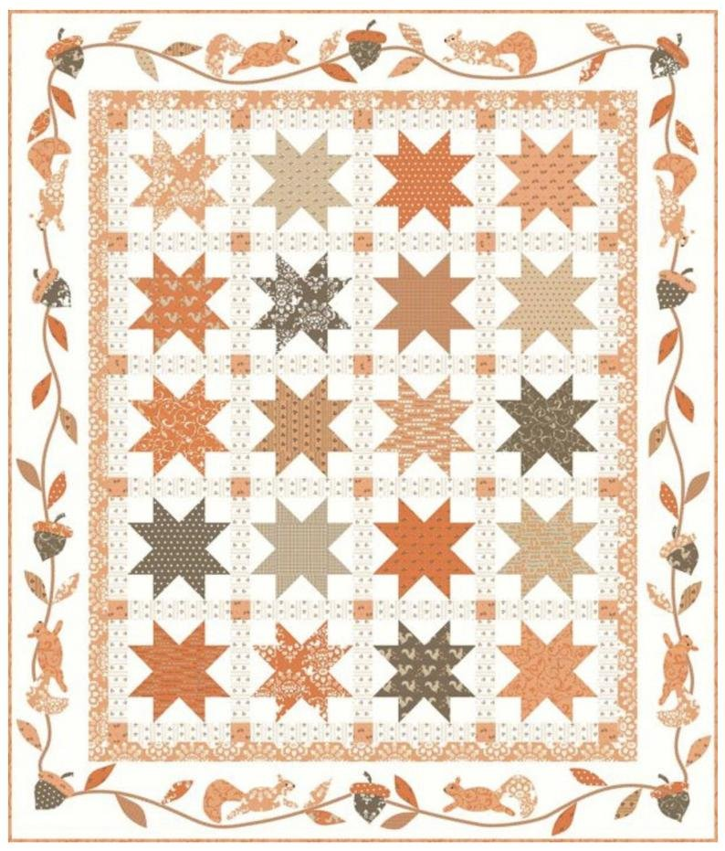 Sugar Squirrels Quilt Kit