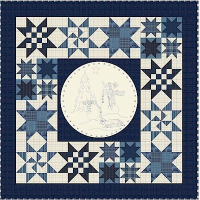 Snowman Snow Globe Flannel Quilt Kit
