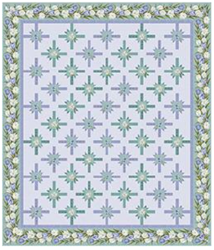 NEW Tulips to the T (Purple/Teal) Quilt Kit