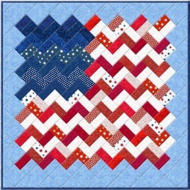 Zig-Zag Flag Wall Hanging Kit