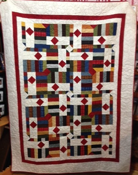 Field of Diamonds Flannel Quilt