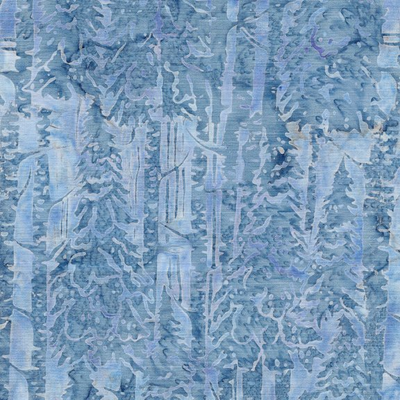 F182 Snow Trees French Blue