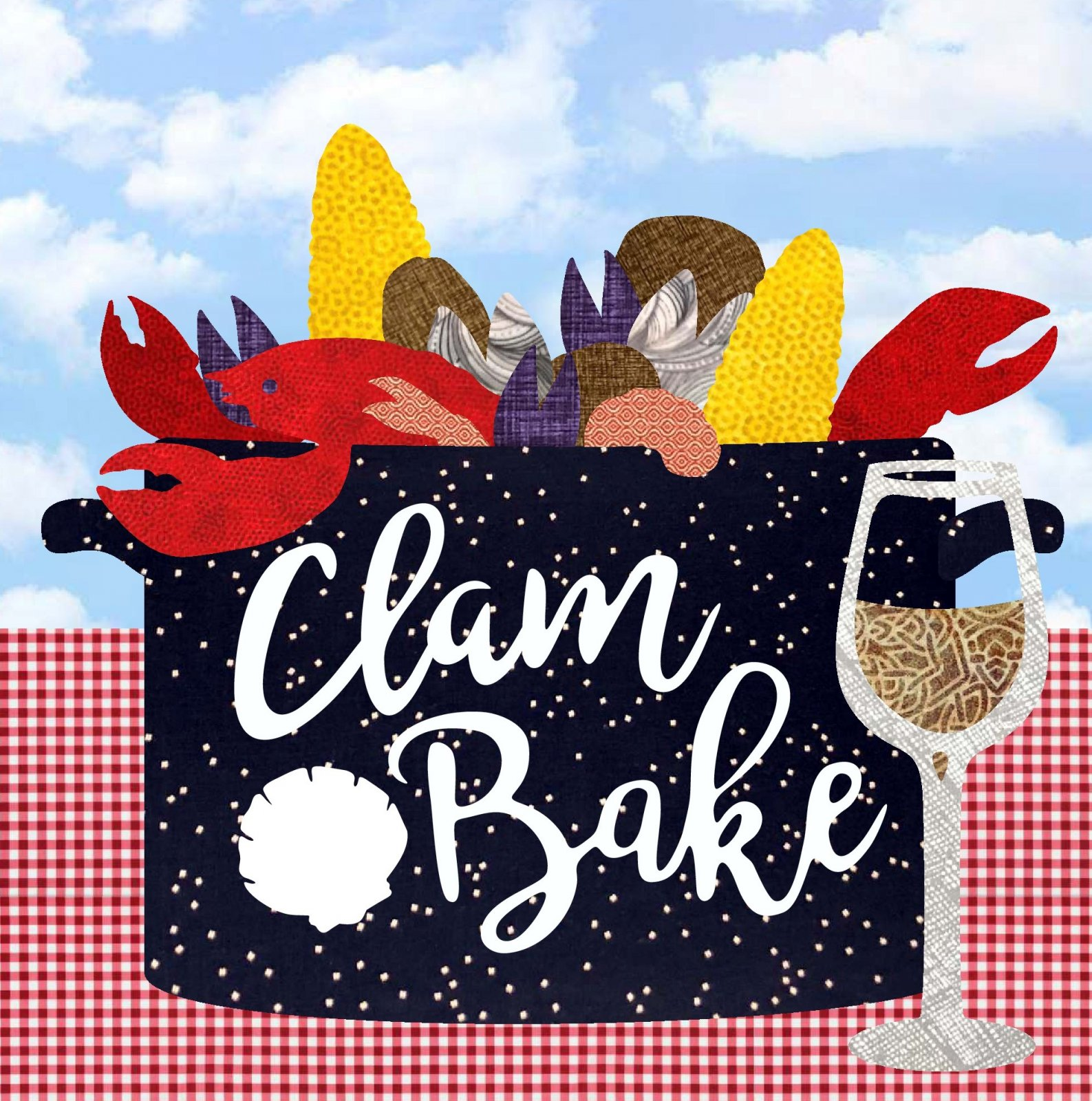 Row By Row 2019 Clam Bake -PATTERN ONLY