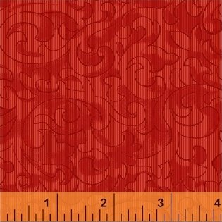 Mary Koval 50655-1 Red Scroll