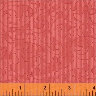 Mary Koval 50655-2 Pink Scroll