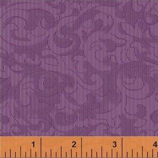 Mary Koval 50655-4 Eggplant Scroll