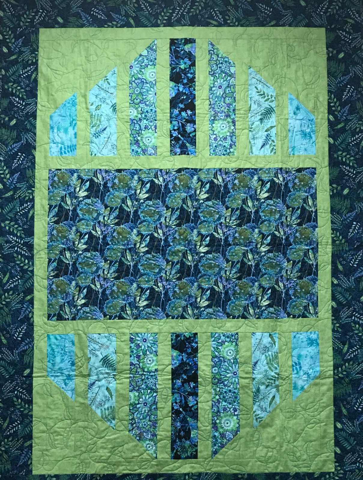 Feather and Flora Quilt