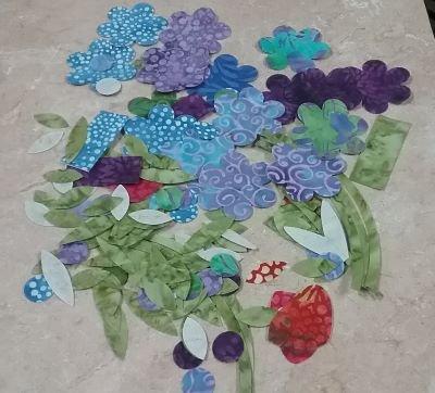 Applique Flowers and Stems (Batik)