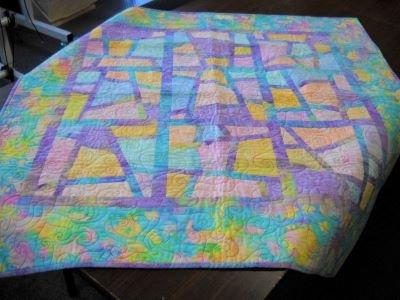 Baby Batik Quilt Sample