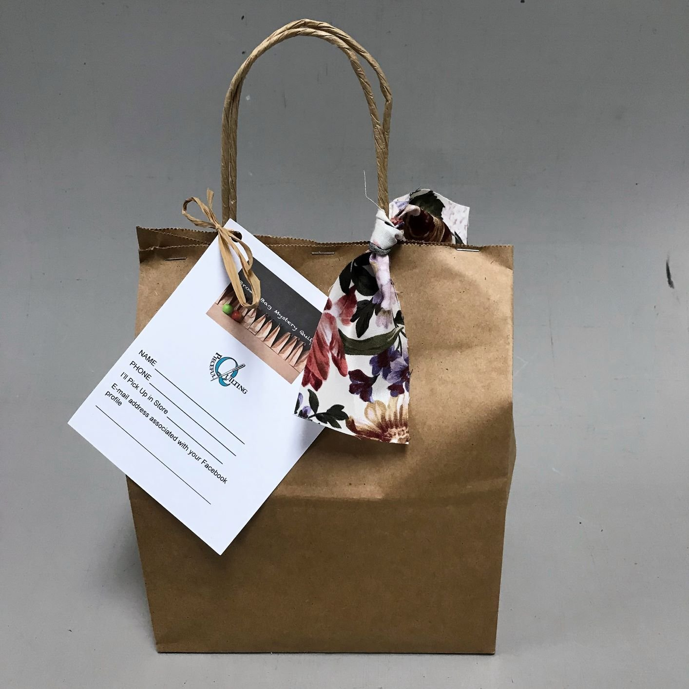 Brown Bag Mystery Peach Floral