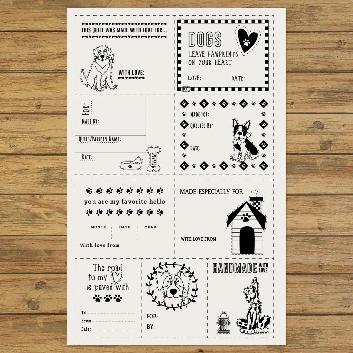 Dog Quilt Labels