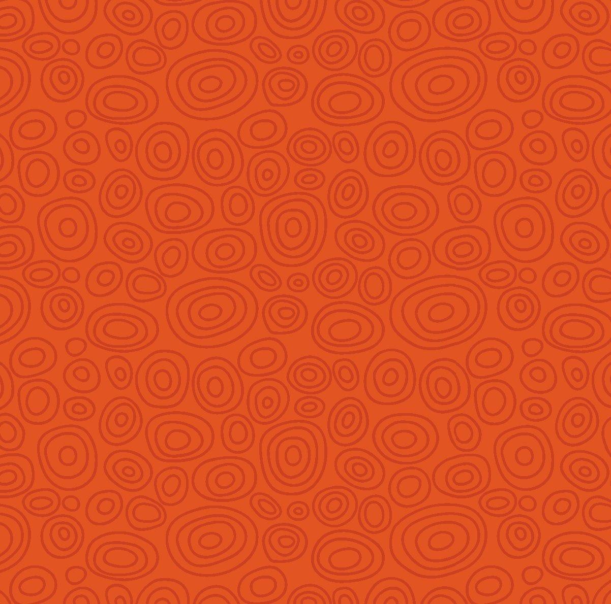 Bear Ess3  Ellipse Rings Orange Red 00664O