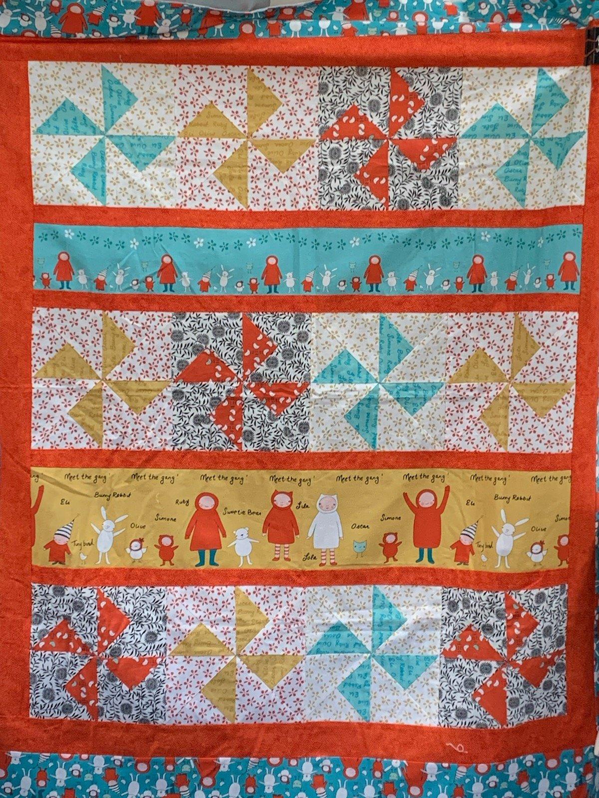 Friends Quilt Top Measures 44 x 50