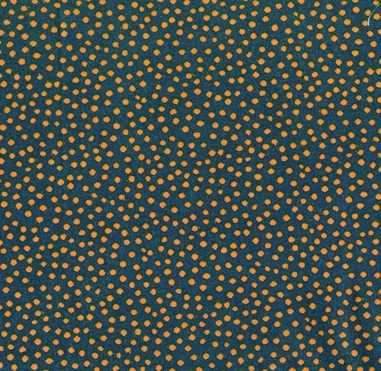 Thimbleberries garden collage gold dots