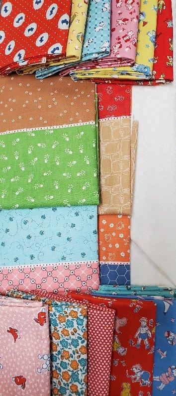 Virtual Getaway July KIT  Reproduction Fabrics