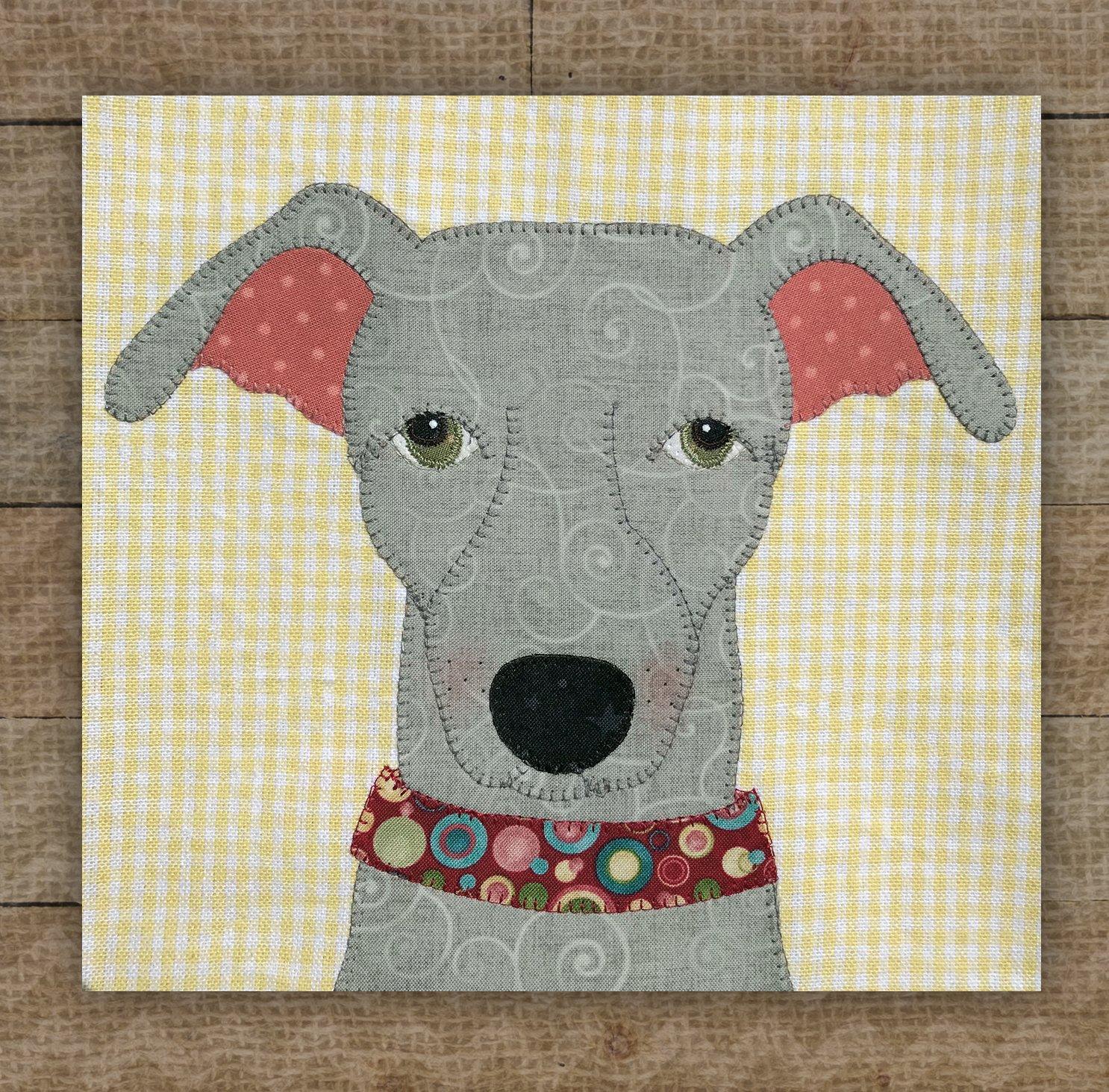 Greyhound Applique Pattern