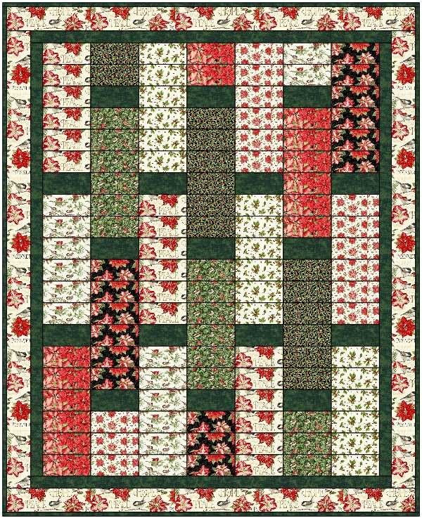 Holiday Botanical Lap Quilt