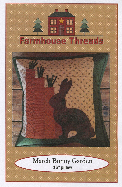 March Bunny Garden Pillow